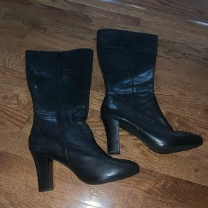 A.N.A. Black Leather Boots